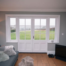 Internal French doors with sidelights