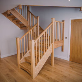 Open Rise Ash Staircase