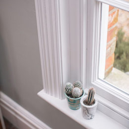 Window Detail with bespoke architrave