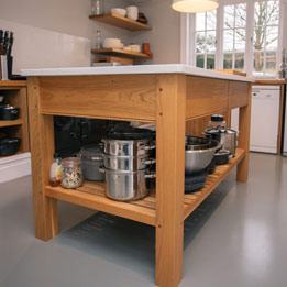 Oak kitchen island unit